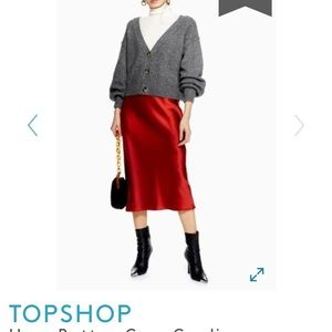 Topshop Cropped Cardigan - Size 8